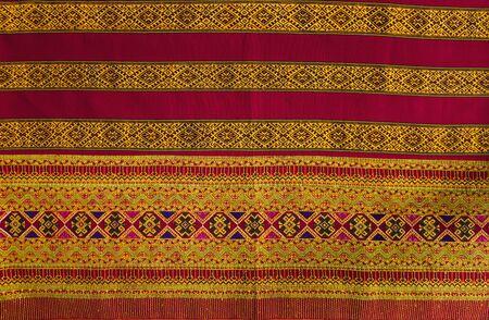 Craftsmanship Textiles, folk art in Thai pattern for beautiful background