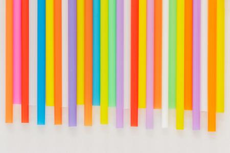 multi color: Multi Color flexible straws  on white background