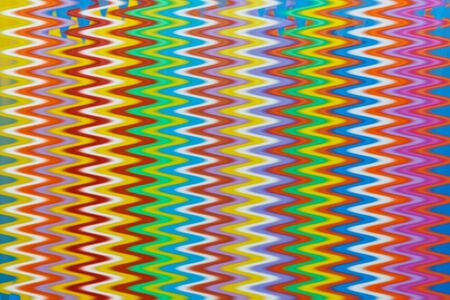 multi color: Multi Color flexible straws  vertical  pattern with effects wave