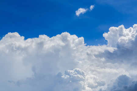 fluffy clouds: Sky with white fluffy clouds. Stock Photo
