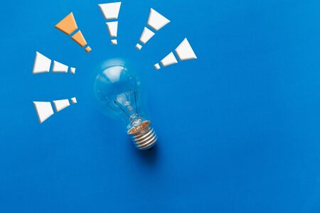 instead: Good idea, just one,Instead, with a light bulb and symbols Stock Photo