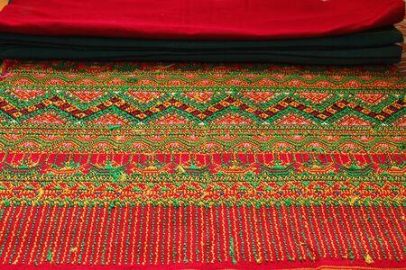 Craftsmanship thai striped sarong ,Colorful pattern beautiful