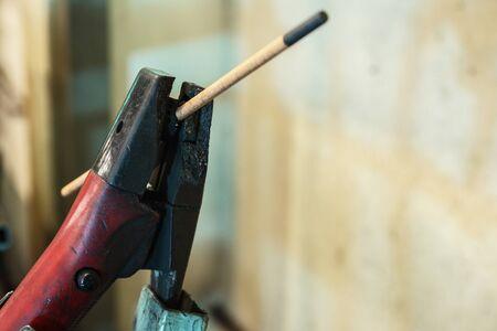 Gouging carbon electrode rods on head,Used in industrial metal steel