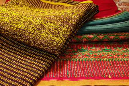 Craftsmanship thai striped sarong ,Colorful pattern beautiful