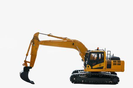 Excavator loader model on white background