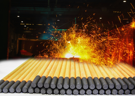 Gouging carbon electrode rods,Used in industrial metal steel with sparks