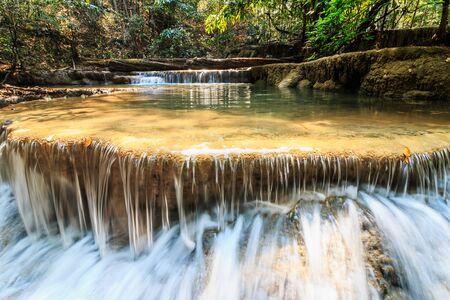 Waterfalls Huay Mae Kamin in  dry season Stock Photo