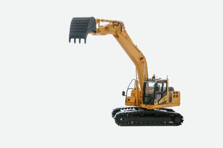 Excavator loader model  isolated on white background Stock Photo