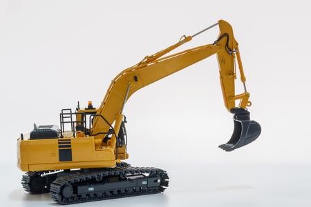 Crawler Excavator loader model on white background Stock Photo