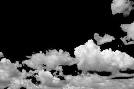 clouds white on isolated elements black background. Imagens