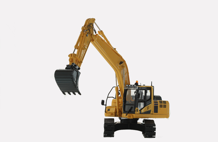Excavator loader model  isolated on white background Stock Photo