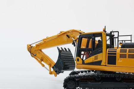 Crawler Excavator  model on  white background