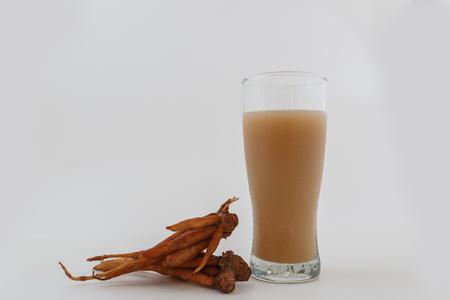 Boesenbergia pandurata drinks for health on white background Stock Photo