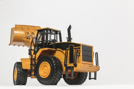 Wheel loader model isolated on white background
