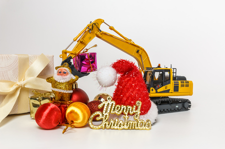Christmas ornament and Excavator model
