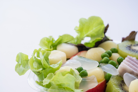Salad of fresh vegetables and healthy grains Stock Photo