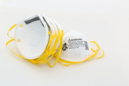 Protection respirator  for N95 Filter face mask, safeguard on white