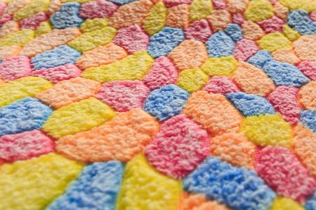 Doormat multicolored with color fabric Banco de Imagens