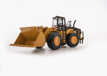 Wheel loader isolated a on white