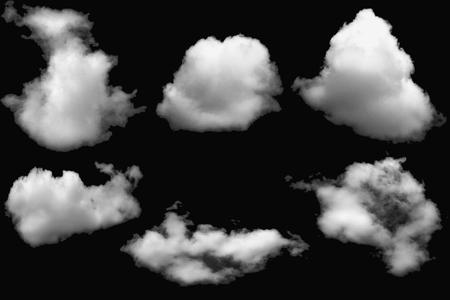 White  cloud on isolated elements black Reklamní fotografie