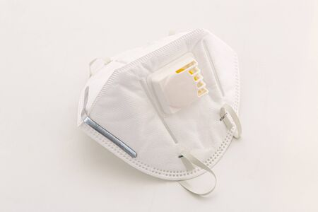 Protection respirator  for Filter N95 face mask, safeguard  on white