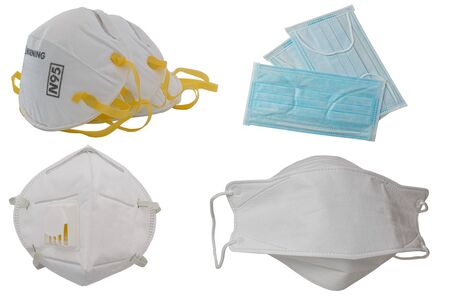 Protection respirator for Filter face mask on white
