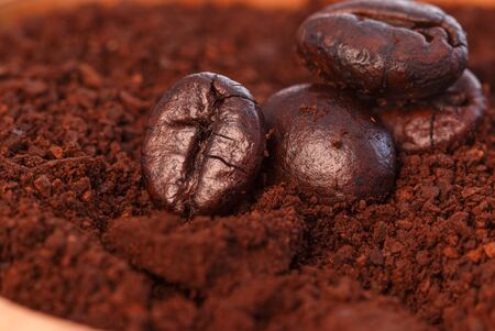 Coffee beans roasted dark