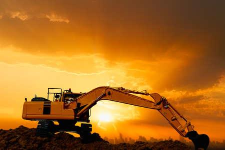 Crawler Excavators are digging the soil in the construction site 版權商用圖片