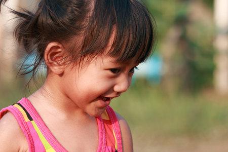 Portrait of asian baby girl