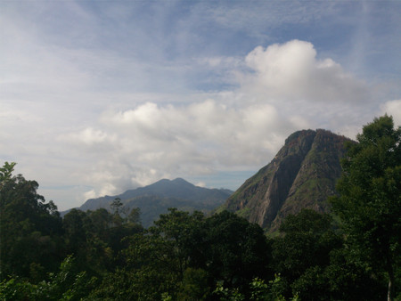 View of natural mountains