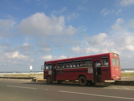 Bus parked by the side of the road