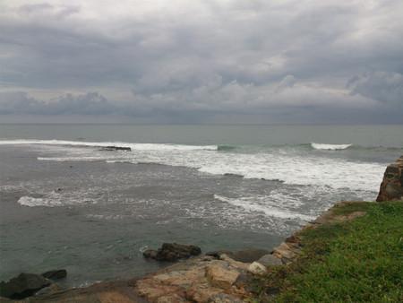 Waves at a seashore