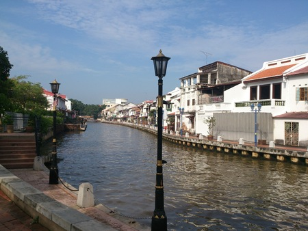 View of a river in Malacca, Malaysia
