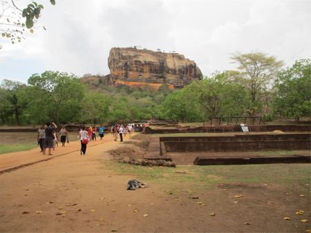 Tourists at the ancient city of Sigiriya