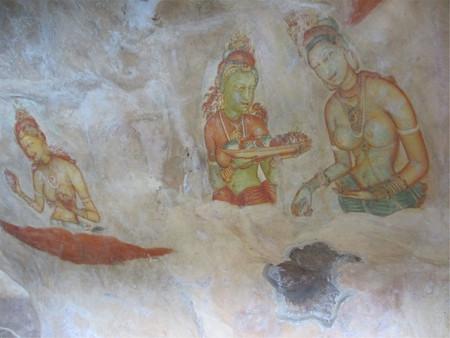 Höhlenmalerei im Sigiriya Editorial