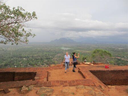 Tourists at the Sigiriya