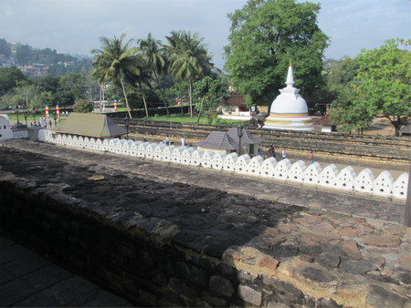 View of stupa at Temple of the Tooth, Sri Lanka