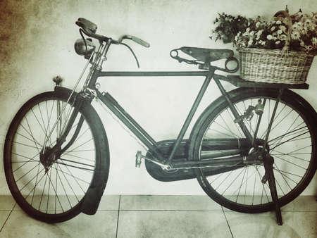 white: Monochrome vintage bicycle