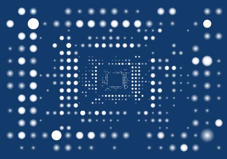 Blue digital abstract background. Vector illustration. Stock Vector - 4686199