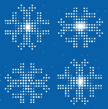 Dotted snowflakes on the digital background. Vector illustration. Stock Vector - 4686198
