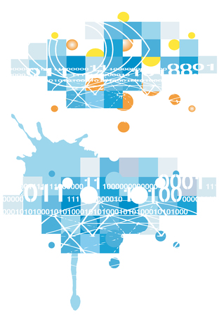 Vector illustration  with a grunge computer technical background Stock Vector - 4700981