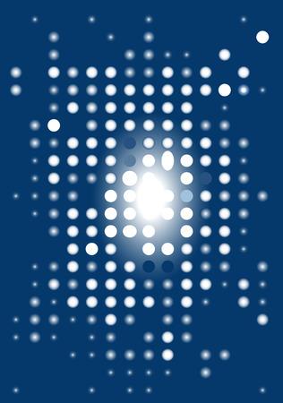 Blue abstract digital display. Vector illustration. Stock Vector - 4700970