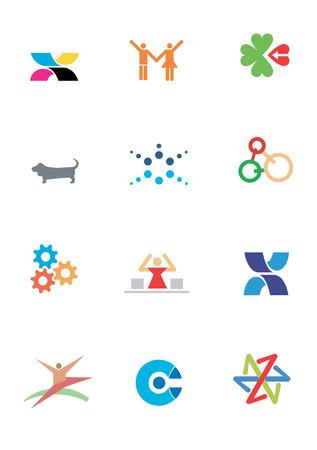 Varios logotipos y símbolo SOF los animales para su uso en un logotipo de la empresa. Ilustración vectorial. Foto de archivo - 4700967