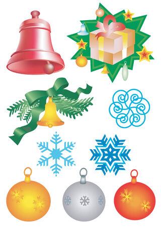 christmass: Christmass elements. Vector illustration