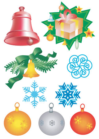 christmass: Elementos de Christmass. Ilustraci�n vectorial