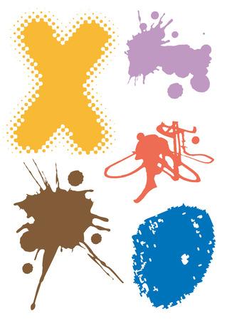 spillage: Ilustraci�n del vector grunge con elementos abstractos.