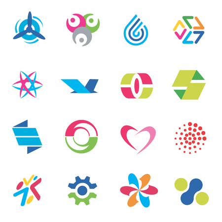 Several concepts for company logo. Vector illustration. Vector