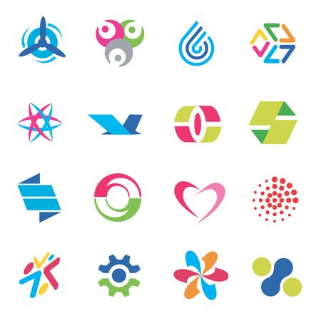 Varios conceptos para el logotipo de la empresa. Ilustración vectorial. Foto de archivo - 6536454