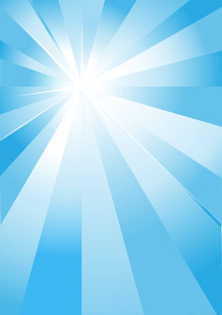 Abstract background with blue light burst.  illlustration. Stock Vector - 6987767