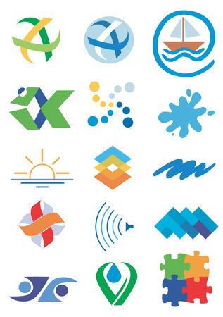 ordinateur logo: Plusieurs concepts pour les logos de la soci�t� Illustration